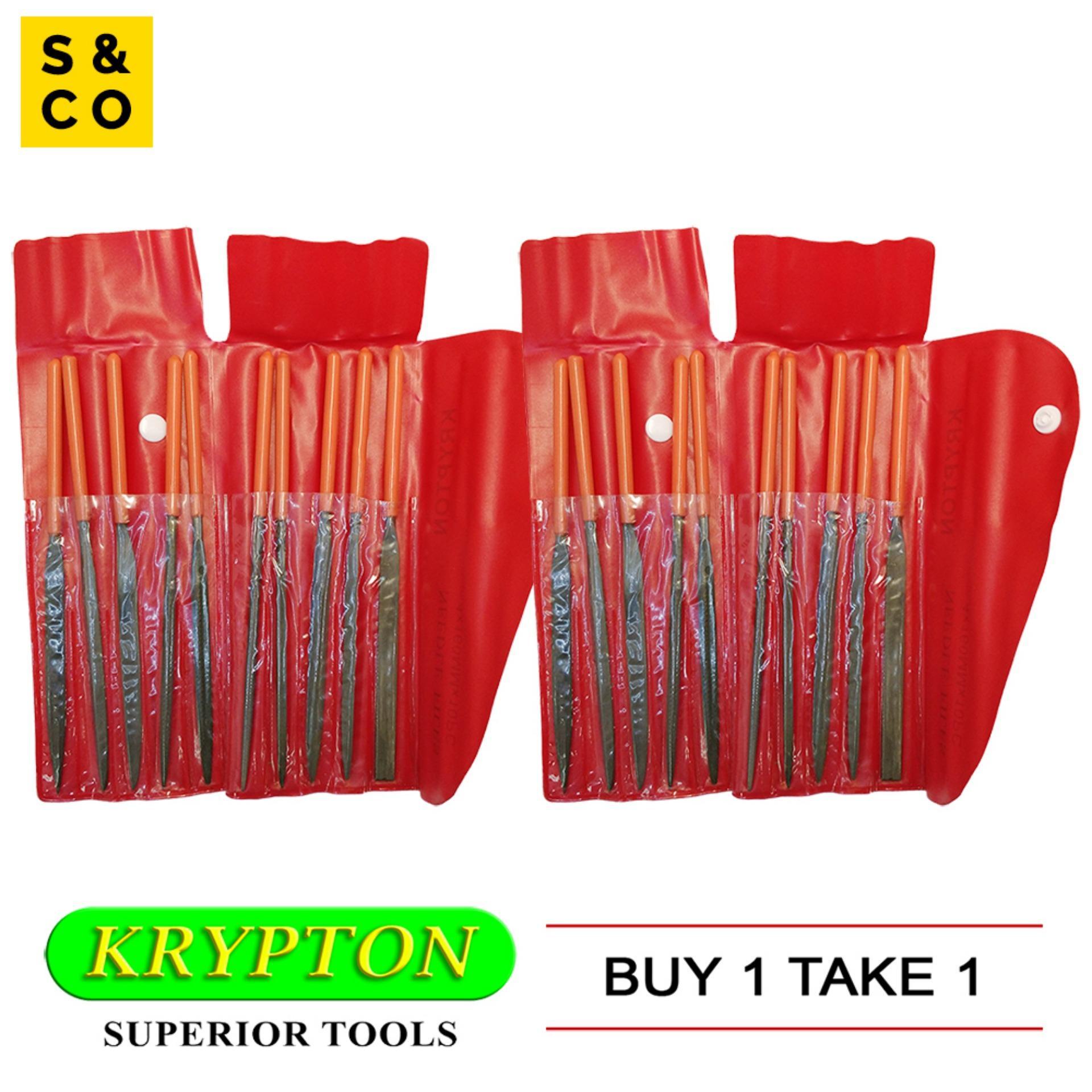 Krypton Needle File Set (160 mm x 10 pcs) - BUY 1 TAKE 1