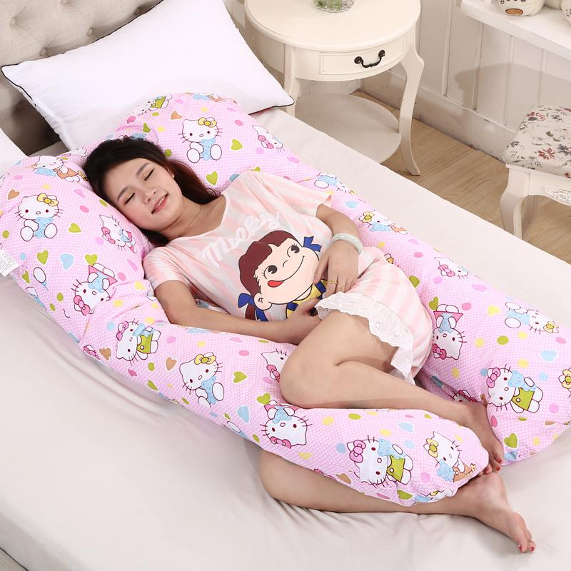 Mengshuiyi 100% Cotton U-Shape Waist Protection Pillow For Side Sleeping Pregnant Women By Taobao Collection.