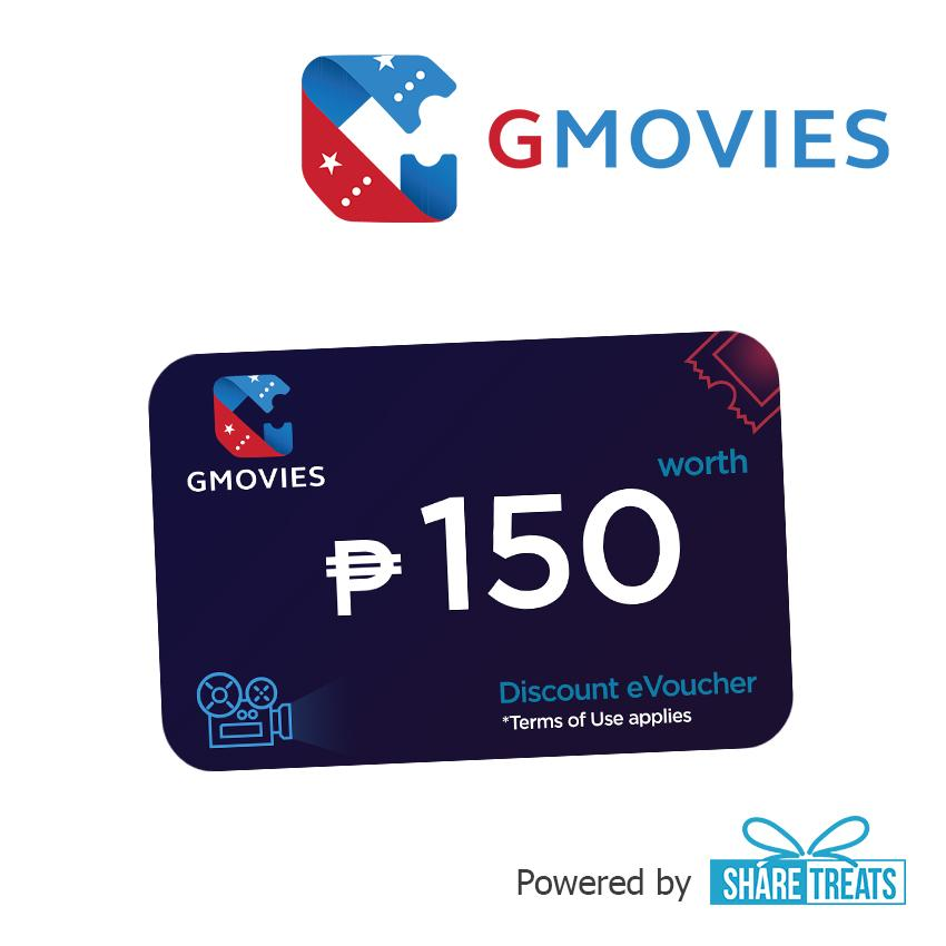 GMOVIES Promo Code P150 (SMS eVoucher)