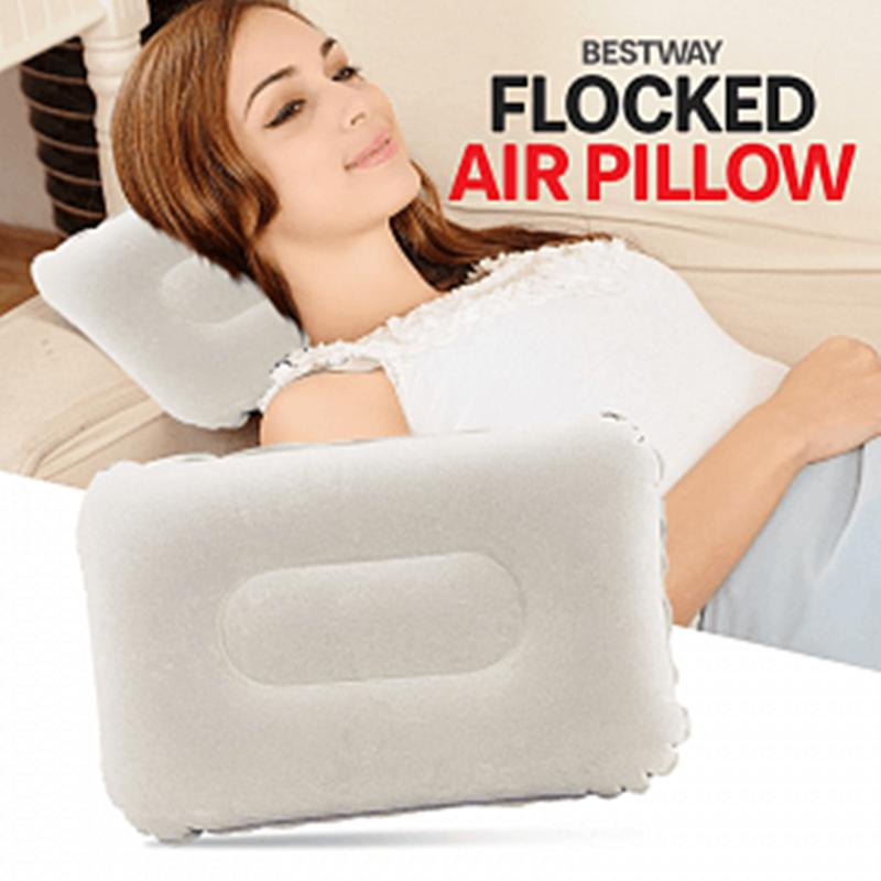 Bestway At Home Indoor Flock Inflatable Pillow 48*30cm (white) By Usje Trading.