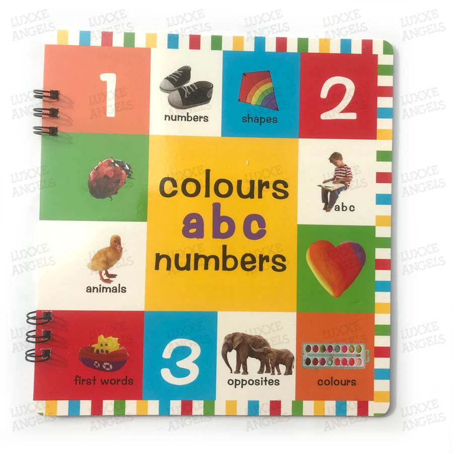 Colors, Alphabet And Number Book By Luxxe Angels.