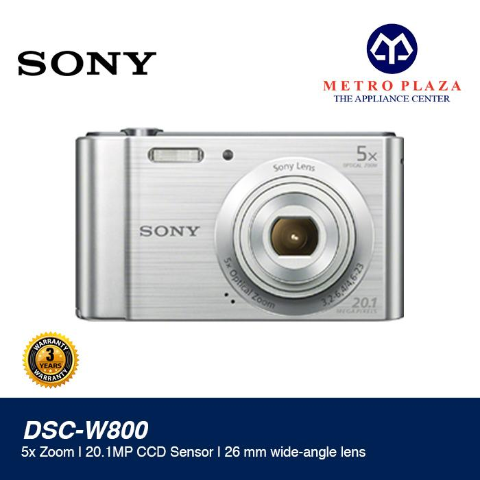 Sony W800 DSC-W800/S 20.1MP Compact Camera with 5x Optical Zoom (