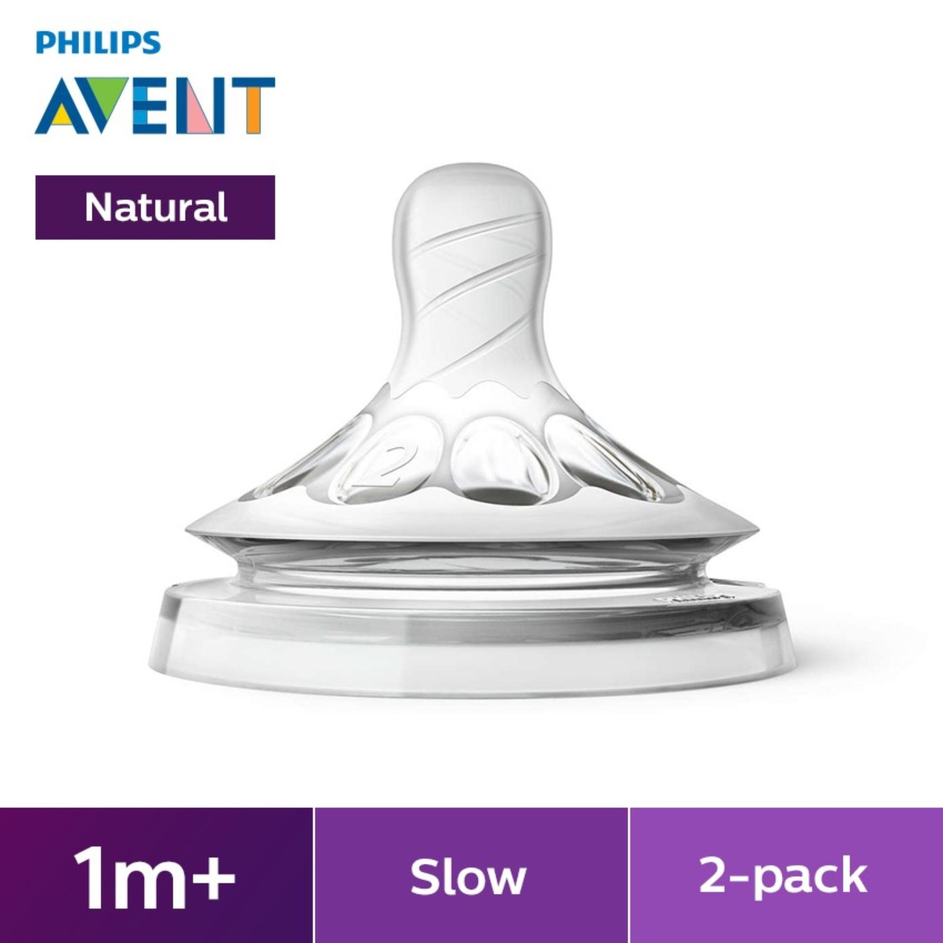 Philips Avent Nat. Teat Slow Flow By Lazada Retail Philips Avent.