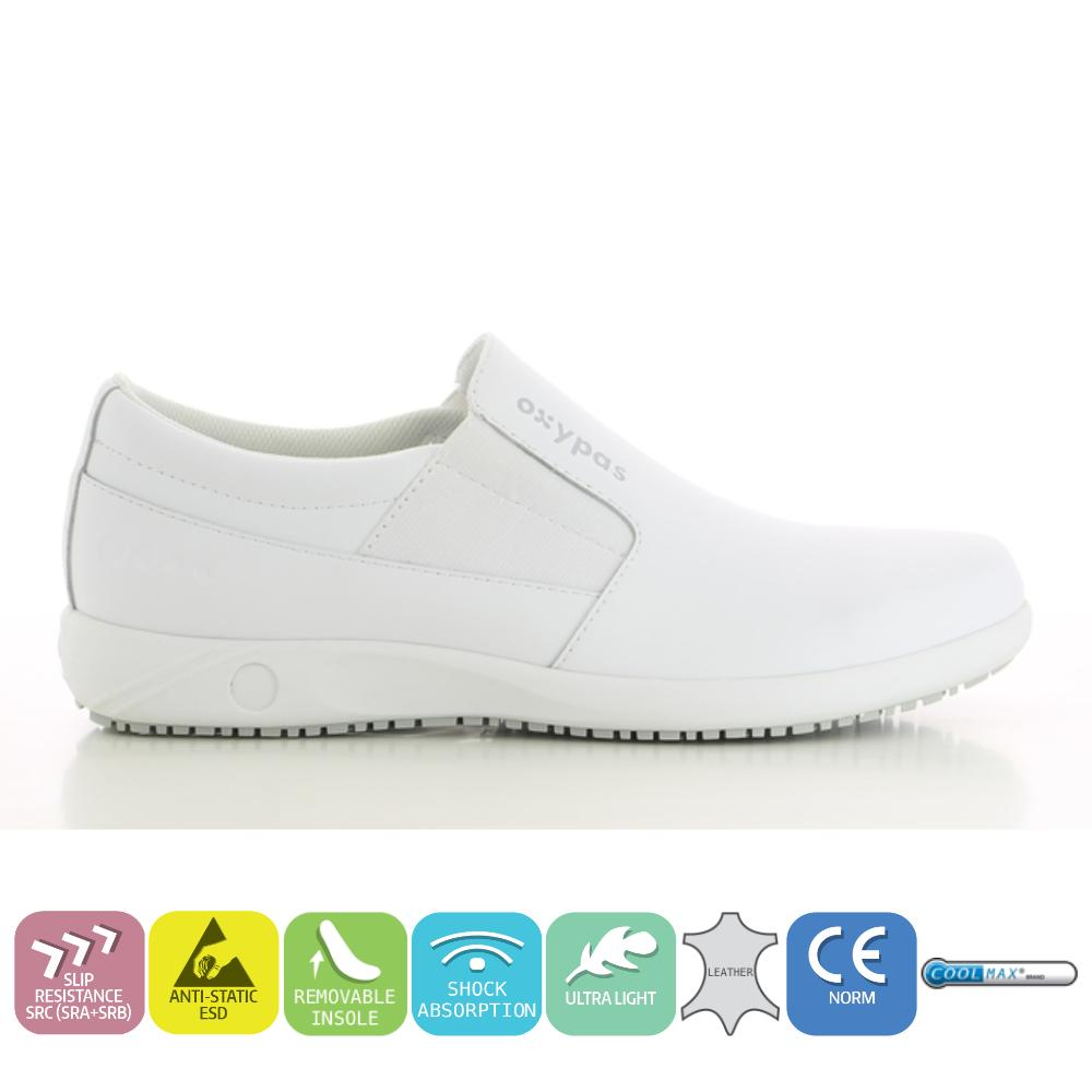 ProfessionalsHospitalChefKitchen Shoes DoctorsNursesMedicalamp; Healthcare Anti Oxypas RoywhiteSporty For Men's Leather Fatigue Loafers vmN8nw0