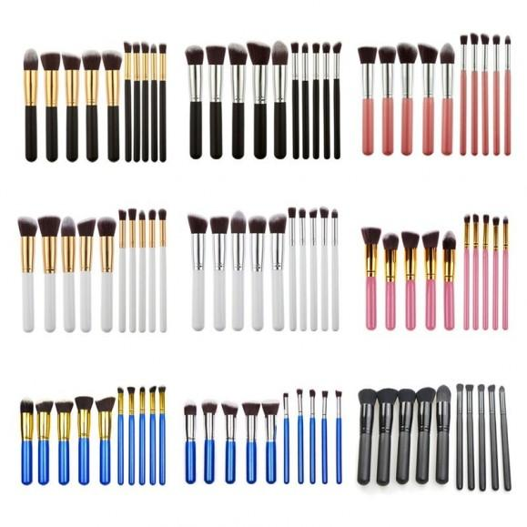 Small 10 PCS Kabuki Make Up Brush Set (Color May Vary) Philippines