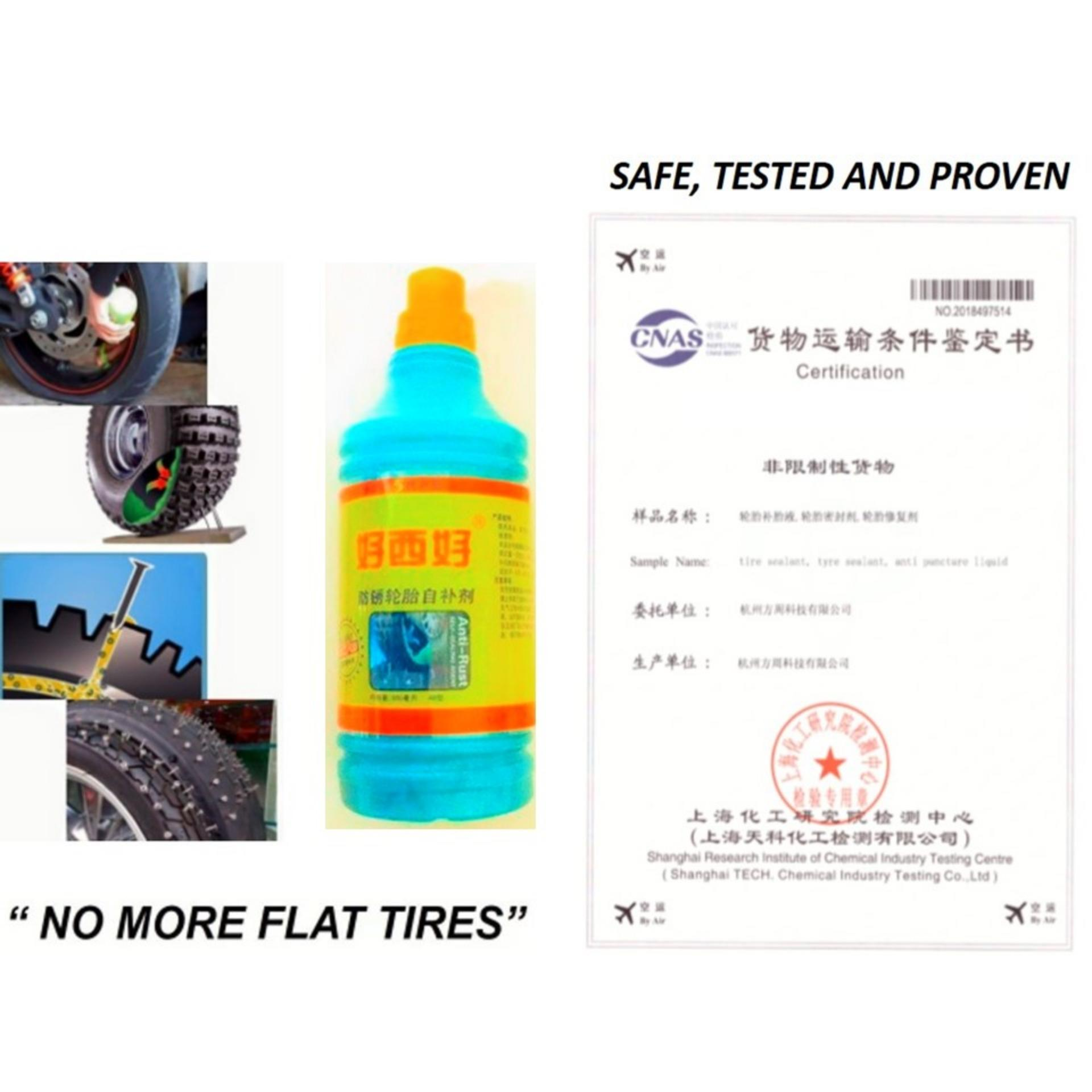 2pcs 500 Ml Car / Motor Tyre Tire Sealant  No More Flat Tires Proven & Tested By Golden Fortune Corp..