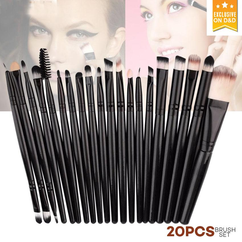 D&D 20Pcs Makeup Brushes Set (Black) Philippines