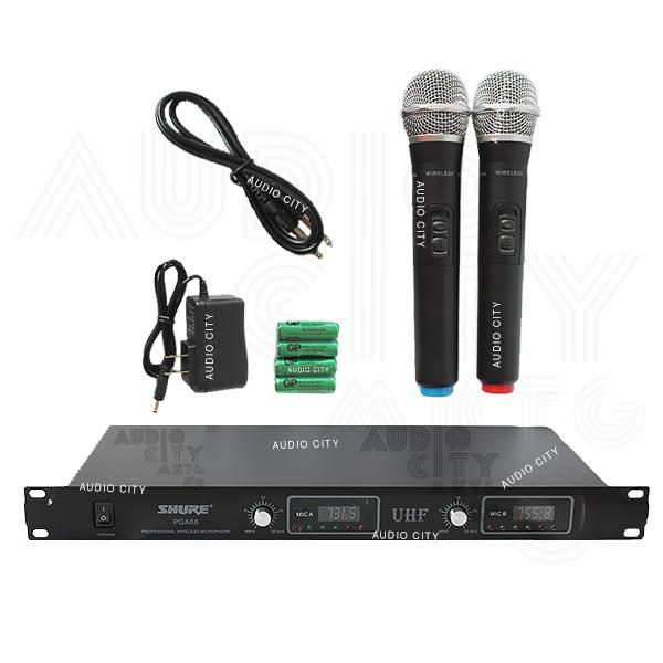 Shure PGA68 2 Channel UHF Professional Wireless Microphone System with Silver Case (Black) Philippines
