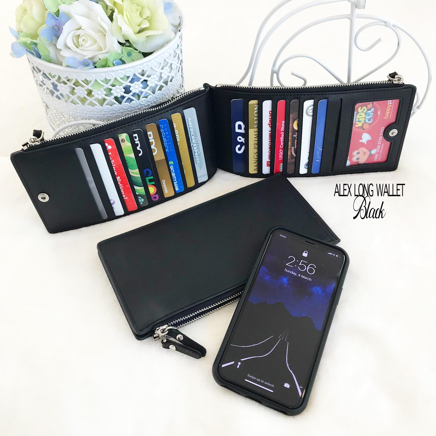 Womens card holders for sale card holder bags online brands alex multifunctional wallet 17 card slot black reheart Choice Image