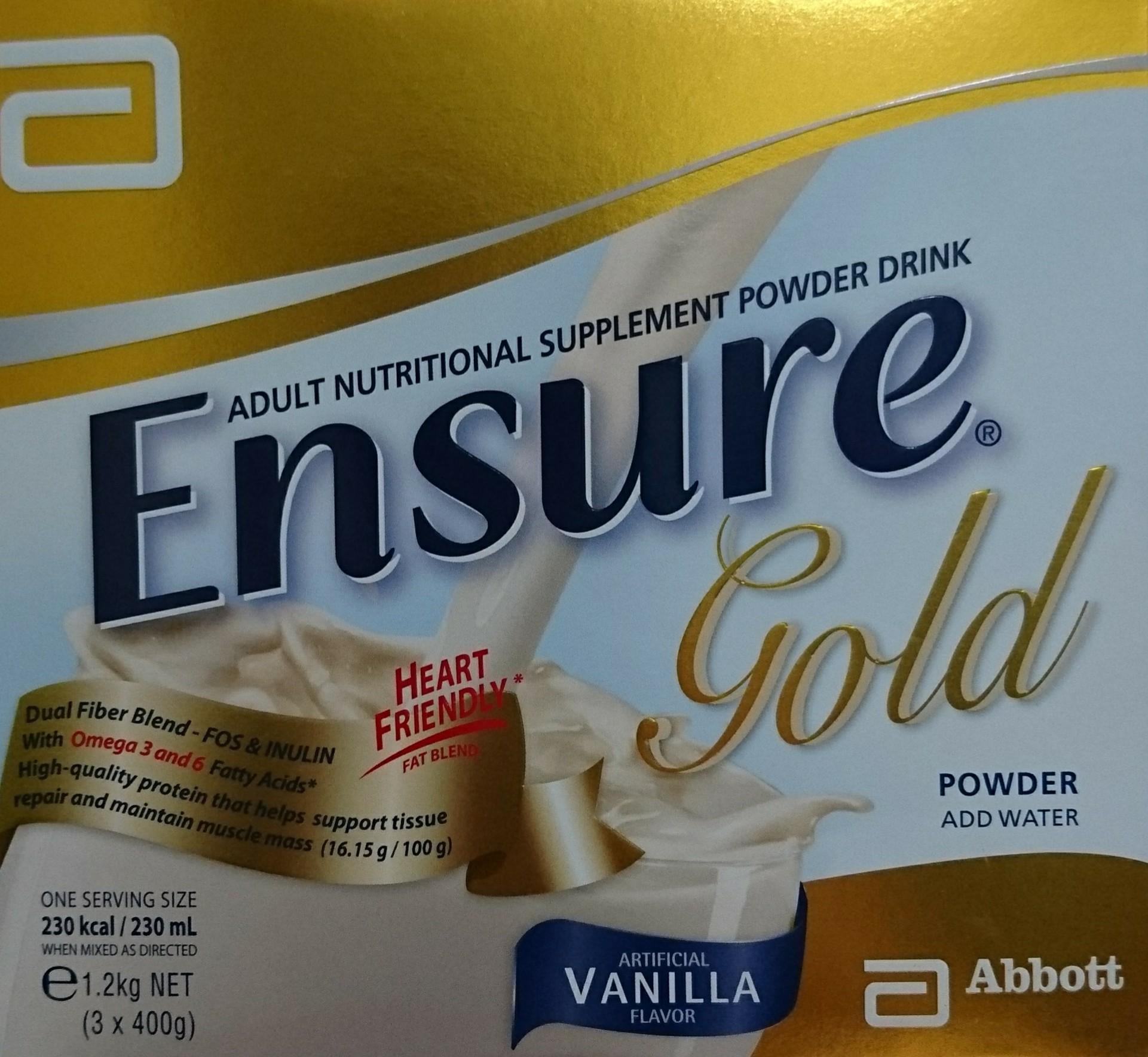 ENSURE GOLD VANILLA 1 2KG (expiry Jan2020)