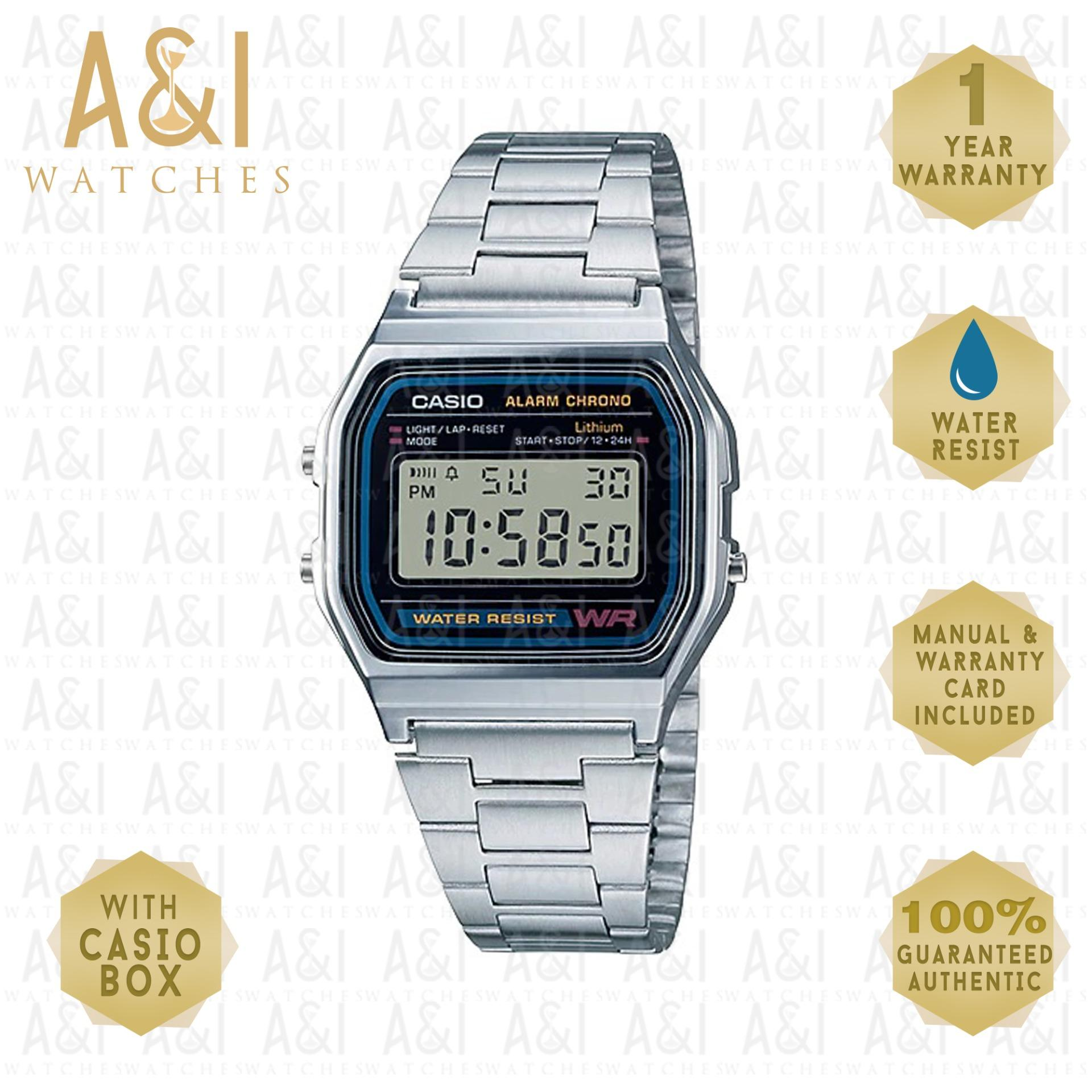Casio Philippines Watches For Sale Prices Reviews Lazada Jam Tangan Ae 1000w 1b Original Vintage Silver A158wa 1df 1yr Warranty
