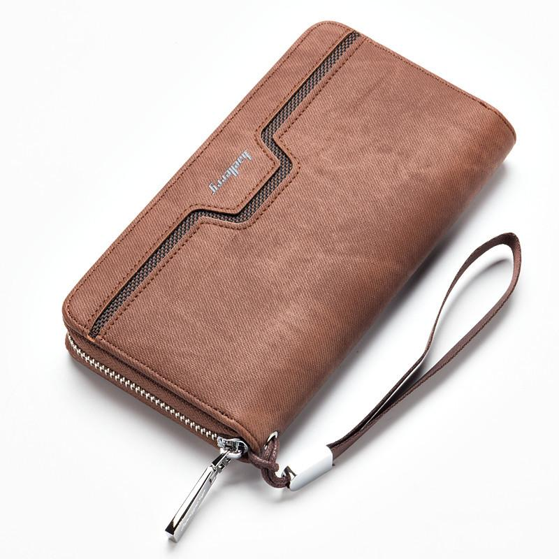Baellerry Fashion Men PU Leather Organizer Long Wallet Money Coin Purse Pocket Pochette Clutch Hand Bag