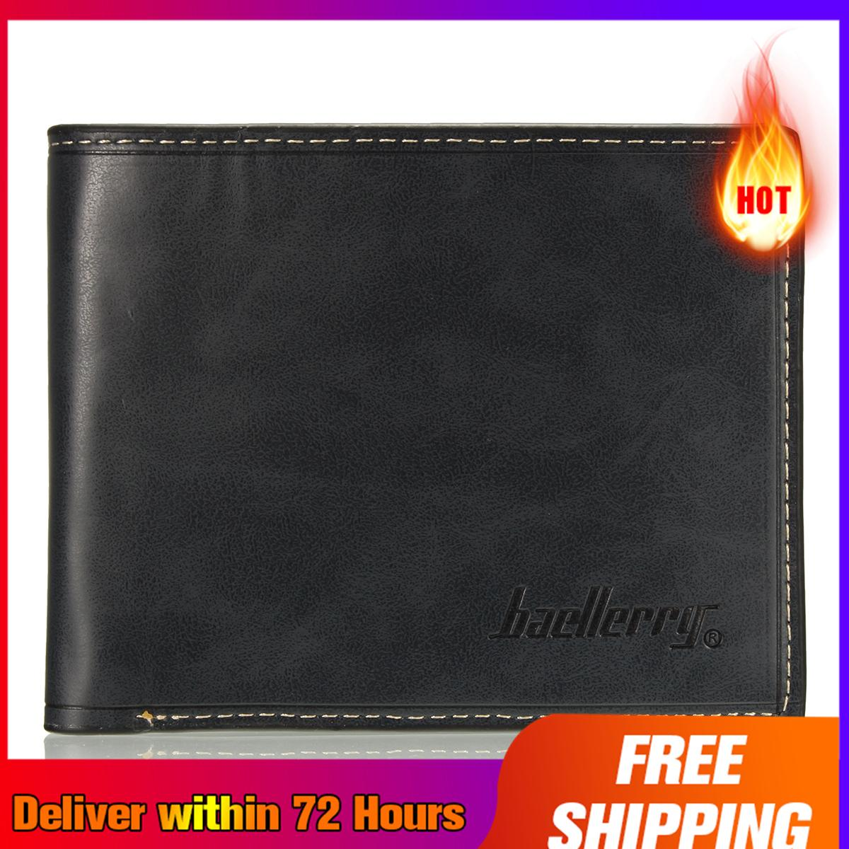 【Free Shipping + Super Deal + Limited Offer】Simple Fashion Mens Leather Wallet Credit