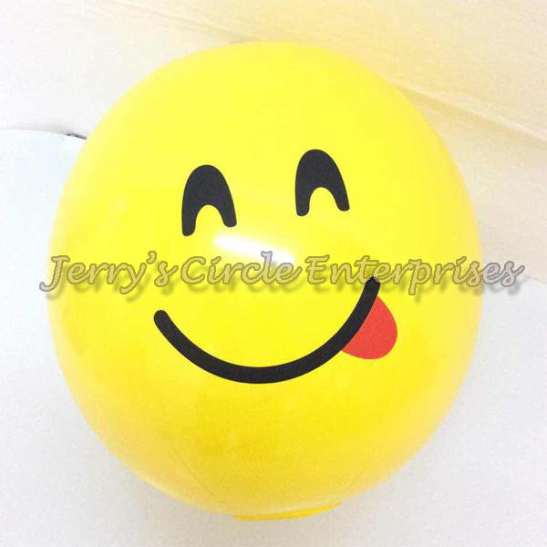 Hx 26cm Emoji Beach Ball / Smiley Jce By Jerry Circle Enterprises.