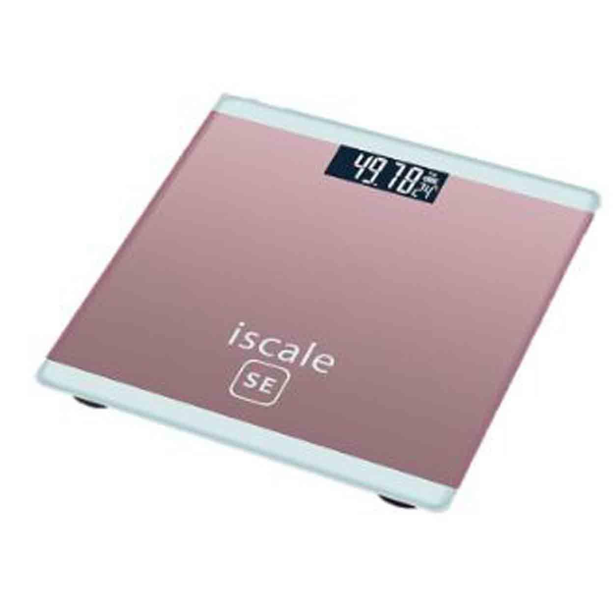 180kg LCD Electronic Digital Display Tempered Body Weighing Scale Battery Operated (Pink)