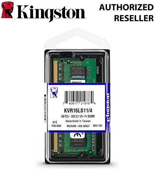 Kingston Value RAM 4GB 1600MHz PC3L-12800 DDR3L 1.35V Non-ECC CL11 SODIMM