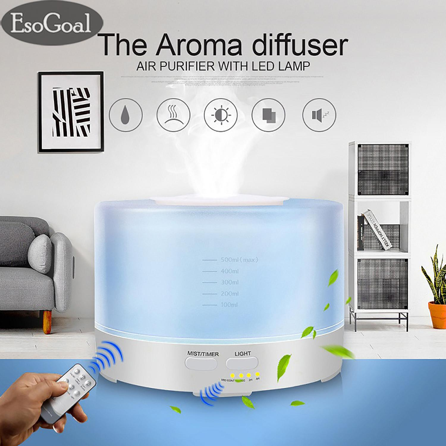 Esogoal Aroma Diffuser Inspire Air Humidifiers Ultrasonic Aromatherapy Essential Oil Diffuser Wooden Air Purifier Cool Mist Quiet Design For Home, Office, Bedroom, Yoga, Spa(500ml) By Esogoal.