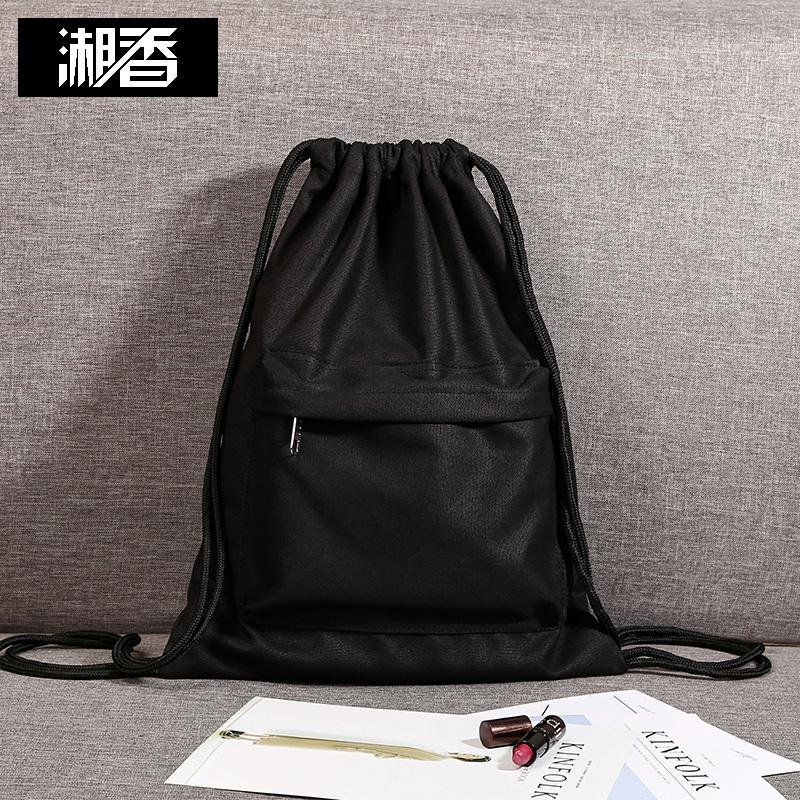 a68ed3e6e588 Cotton linen canvas lightweight men cinch top bag string bag (Can be  customized to any
