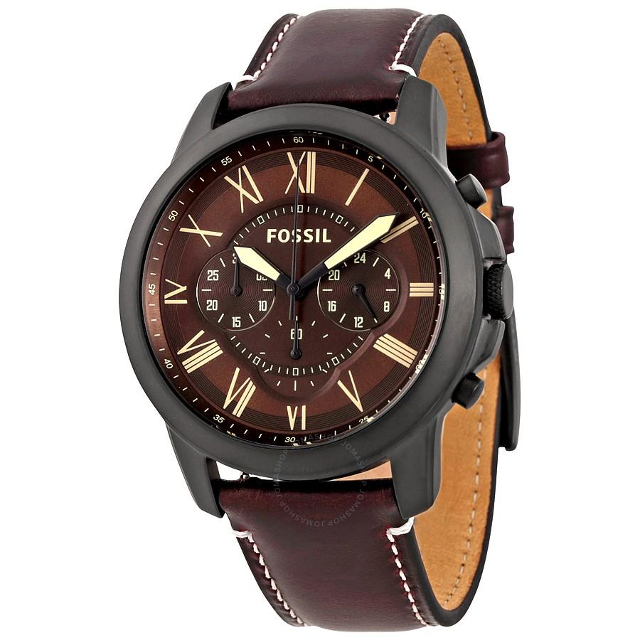 Fossil Philippines Casual Watches For Men Sale Prices Ch2600 Grant Dark Brown Chronograph Leather Mens Watch