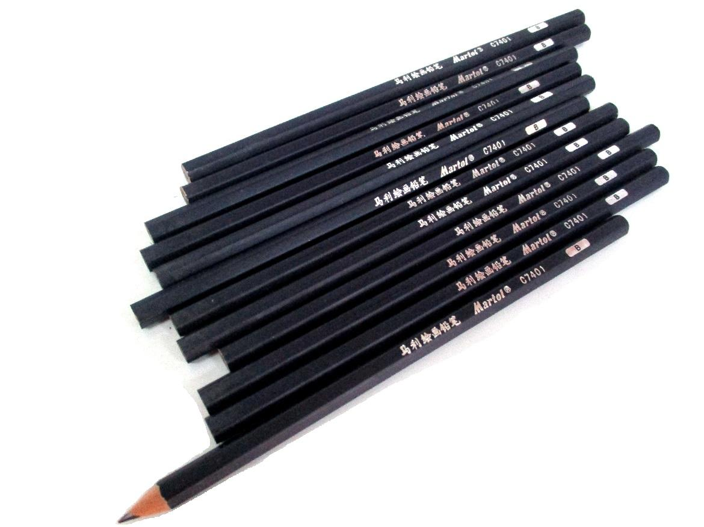 12pcs Martol Sketch Art Drawing Pencil Sketching Pencils (4B / HB / 2B / B