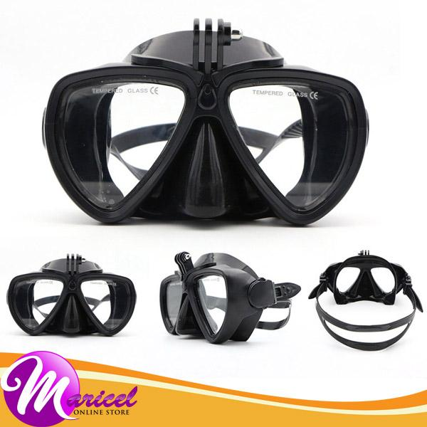 Telesin Tempered Glass Silicone PVC Lens High-Quality Anti-Skid Scuba Snorkel Goggle Mask