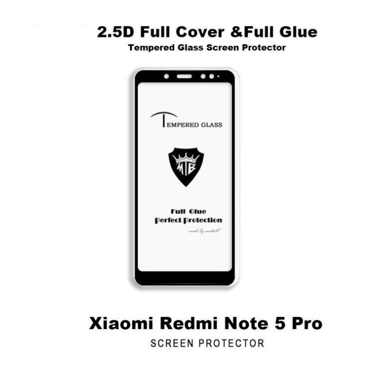 ADL HD Tempered Glass Protector 2.5D Round Edge Protective Screen For Xiaomi Redmi Note 5 ...