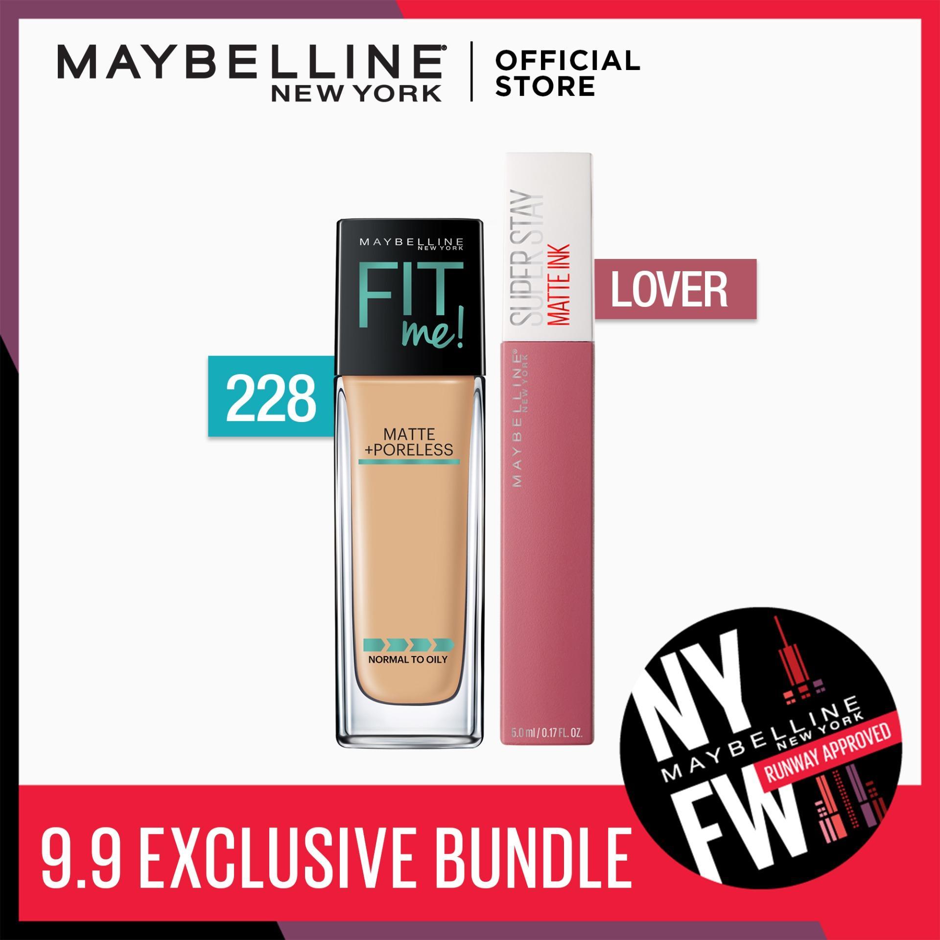 Make Matte Happen Bundle: Fit Me Liquid Foundation 228 + SuperStay Lover by Maybelline Philippines