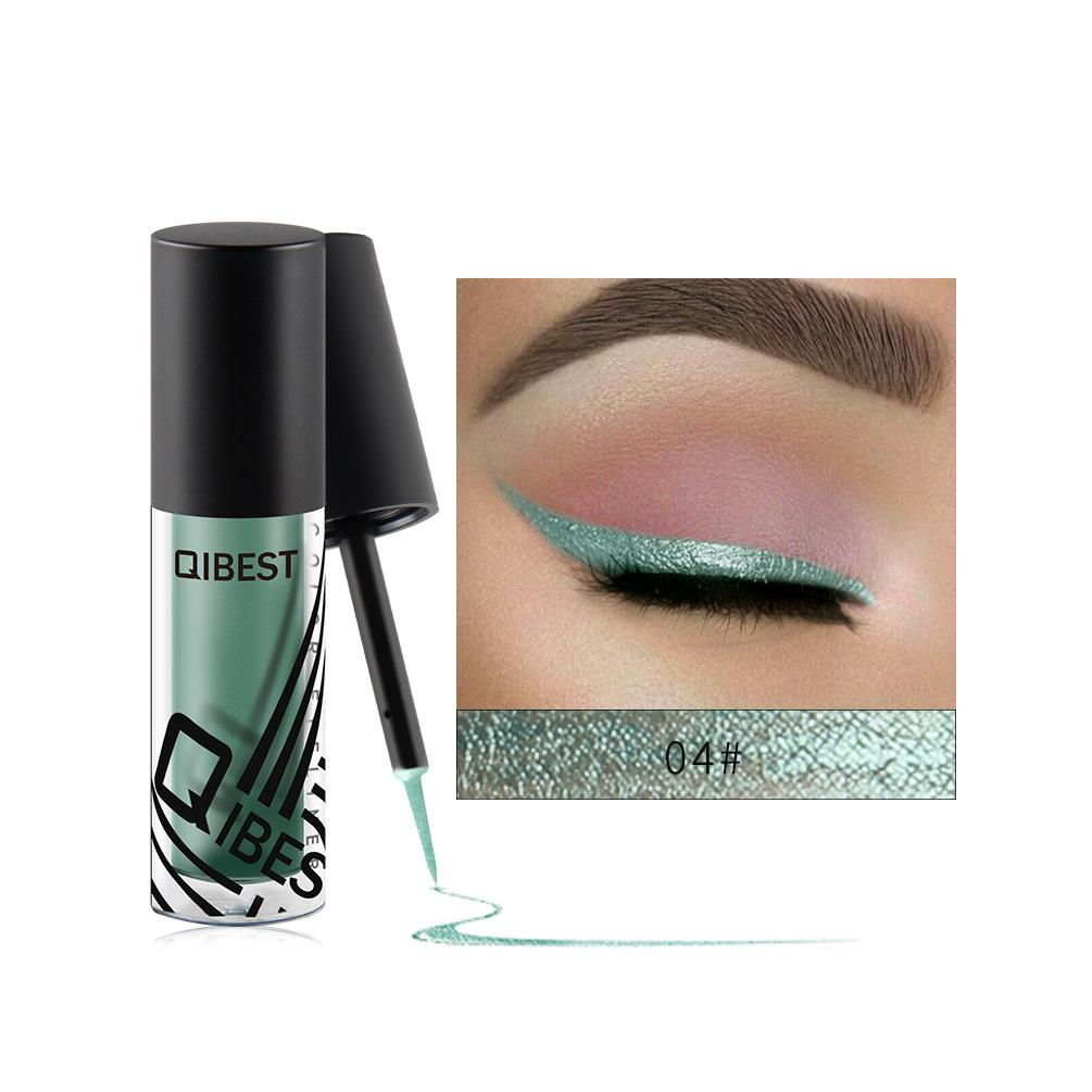 Qibest Makeup Glitter Eyeliner Liquid Waterproof Shiny Eye Liner Fashion Brightening Eyeliner Matte Cosmetics Philippines