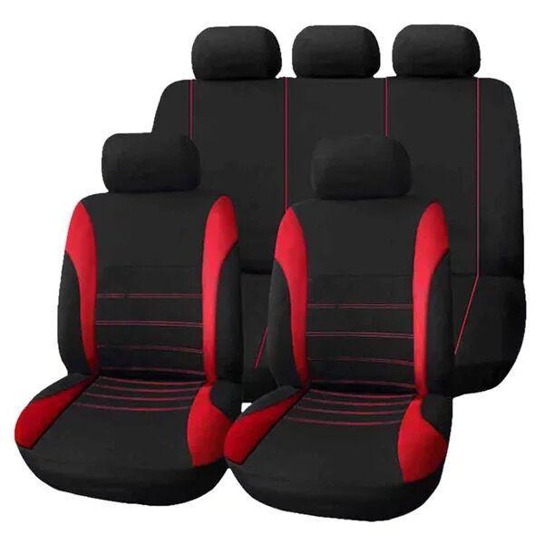Universal Car Seat Cover Set 9Pcs Covers Front Back Headrest