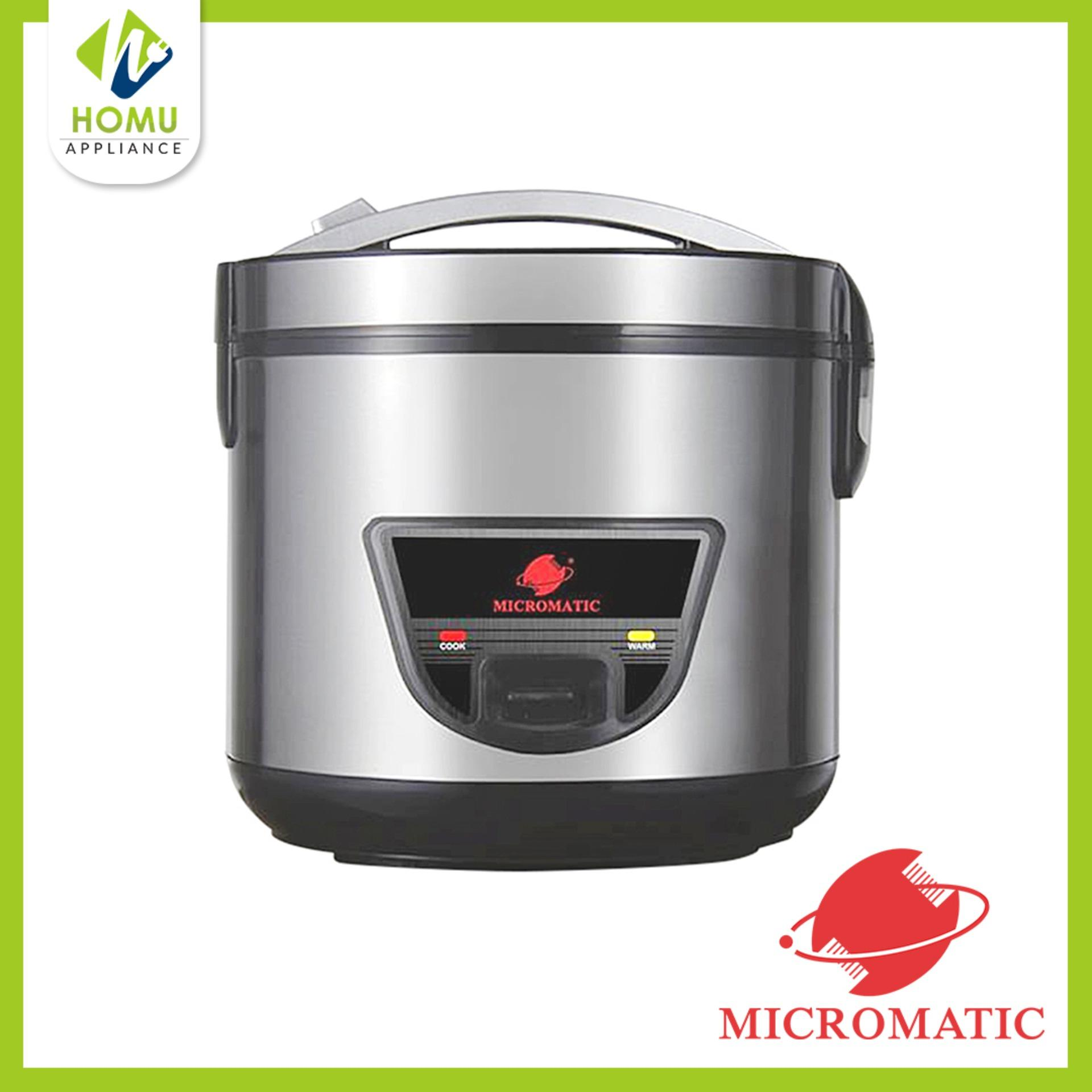 Micromatic MJRC-5028 Rice Cooker (Black/Silver)