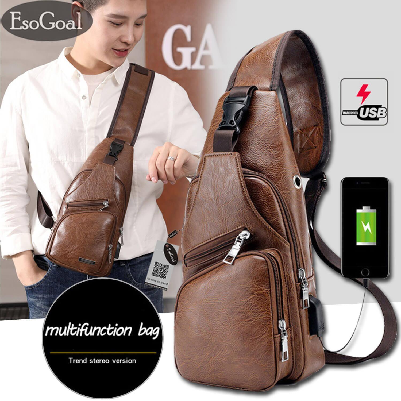 74afef40f18 EsoGoal Crossbody bags Chest Backpacks Men Shoulder Back Pack Sling Bag  Fashion Chest Bag Rucksack Outdoor
