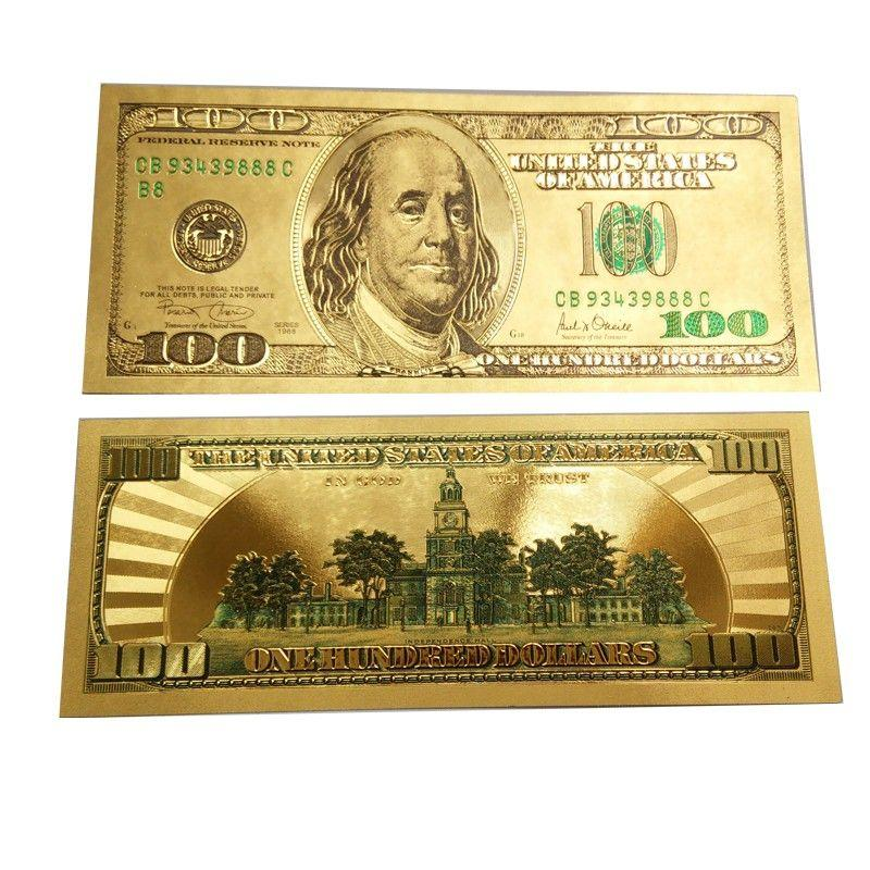 Be Lucky Charms Feng Shui Lucky Money Catcher/attract Wealth Golden Hundred Dollar Bill (wallet Size) By Blcs Merchandise.