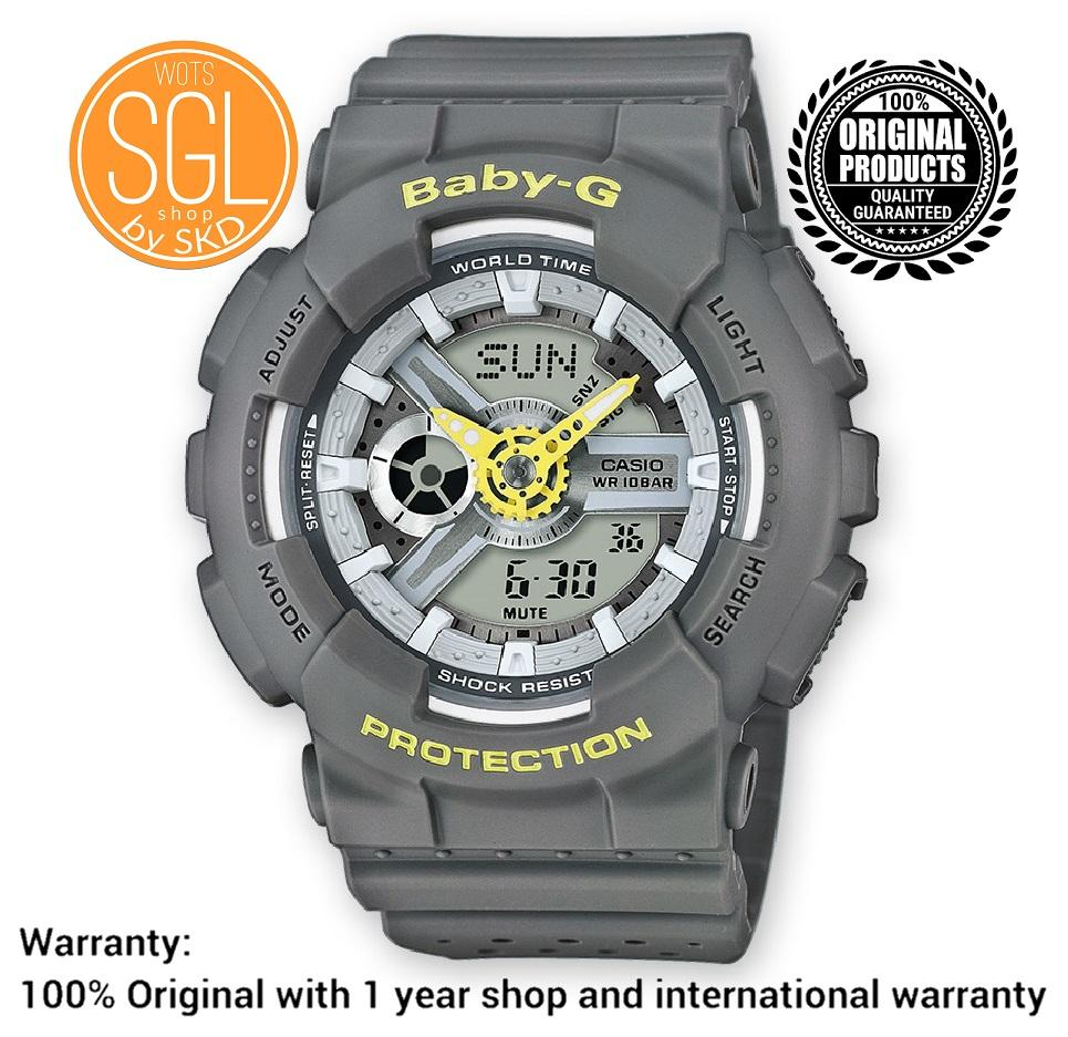 f7ded7aebe102 Casio Baby-G New Release Punching Pattern Series GRAY   GREY Watch BA110PP-8