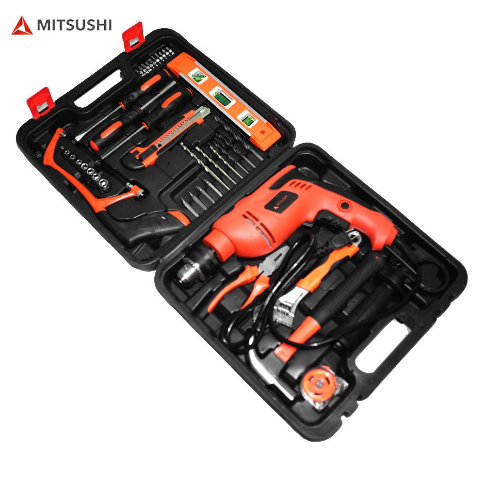 Mitsushi 40pcs Wired Impact Drill Corded Drill Tool Kit Philippines