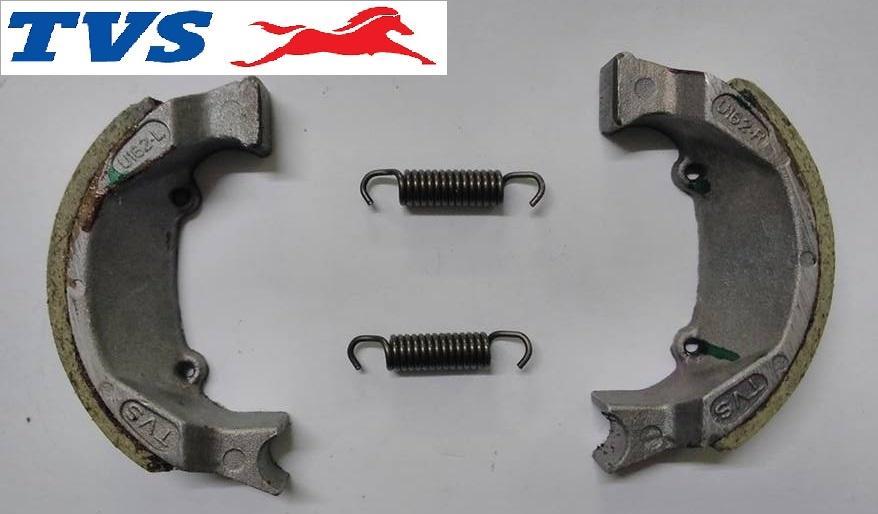 Tvs Xl 100 - Brake Shoe Set Front ( P.no. P6110300 ) Tvs Motorcycle Genuine Parts By Tvs Genuine Parts ( Tvs Global ).