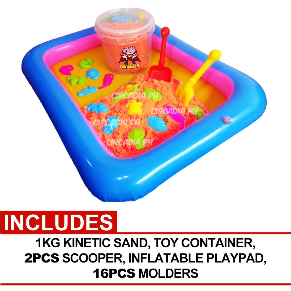 Kinetic Motion Sand Playset with Molds and Inflatable a938d525018fb