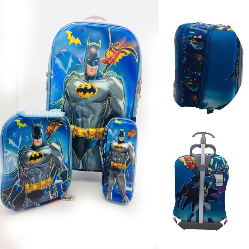 db8a59fa62 Abby Shi Kids 2 Zipper Girls Boys 6D 3 Piece Luggage Trolley Wheel Set  Cabin Suitcase