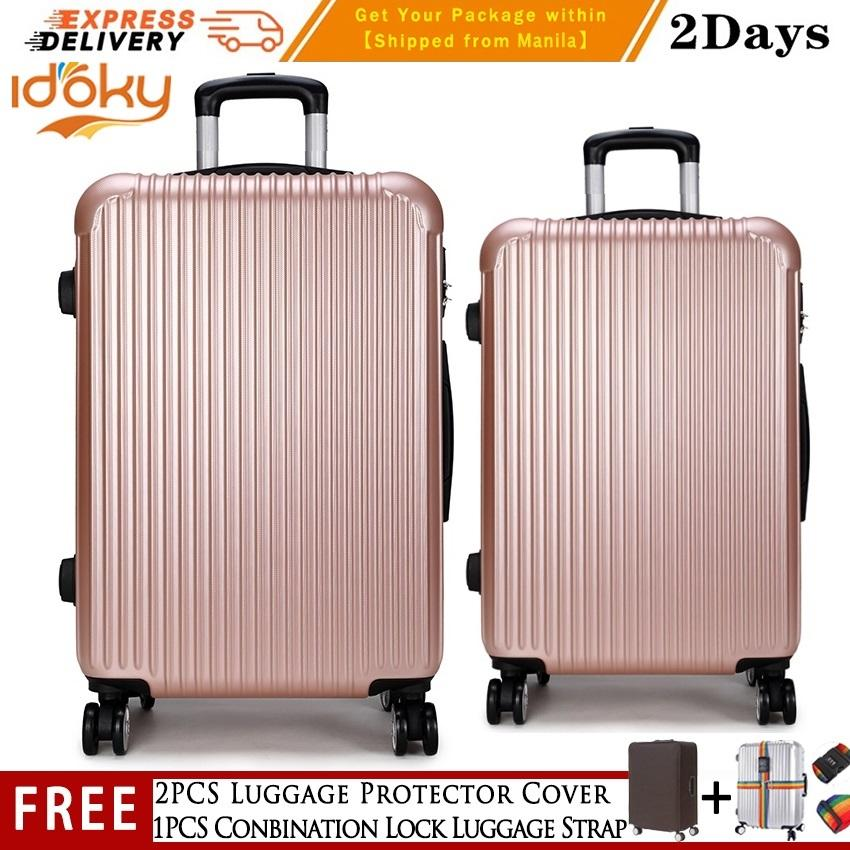 2pcs(20 Inch+24 Inch)idoky Ph502 Popular Suitcase With【explosion Proof Zipper】hard Case Luggage Set By George Global.