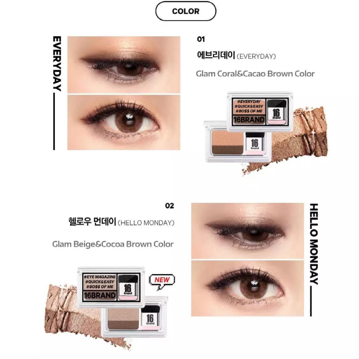16brand Authentic Korean Eye magazine Eyeshadow - Everyday Philippines