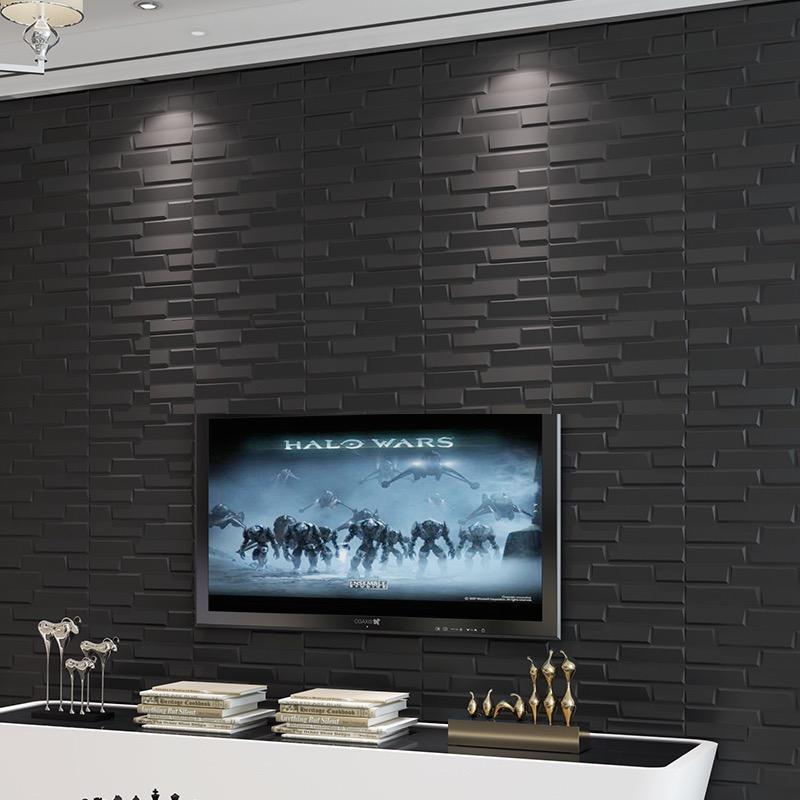 Nice 3D Foam Baby Protector Wallpaper Or Flooring Oblique Black Design Bricks