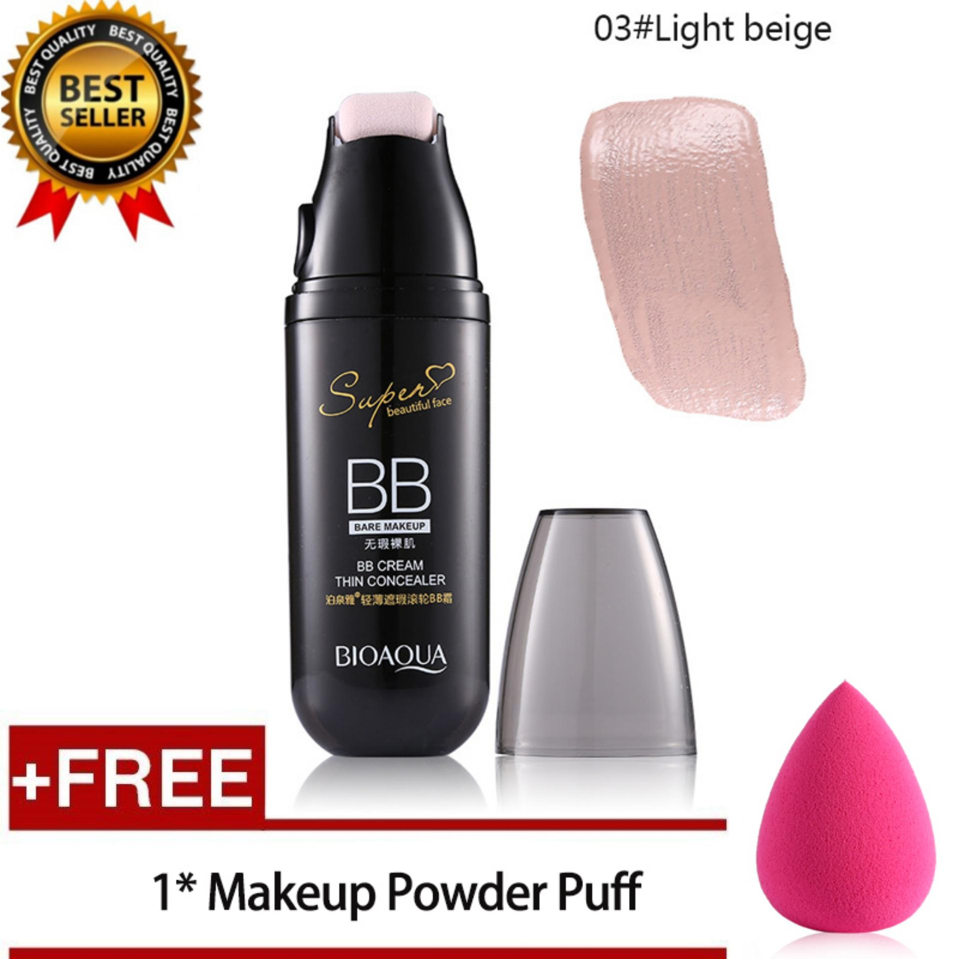 Buy Sell Cheapest Bioaqua Makeup Set Best Quality Product Deals Bb Cream Foundation Light Skin 1 Get Free Giftbioaqua Thin Concealer Roller Oil