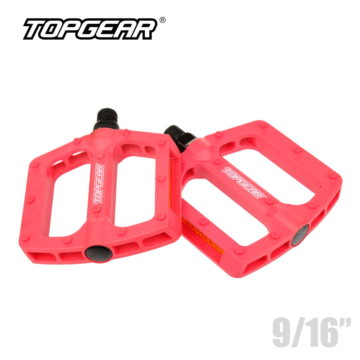Topgear Gm-03 9/16 Low Profile Lightweight Nylon Platform Bicycle Pedals By Sd Bikes.