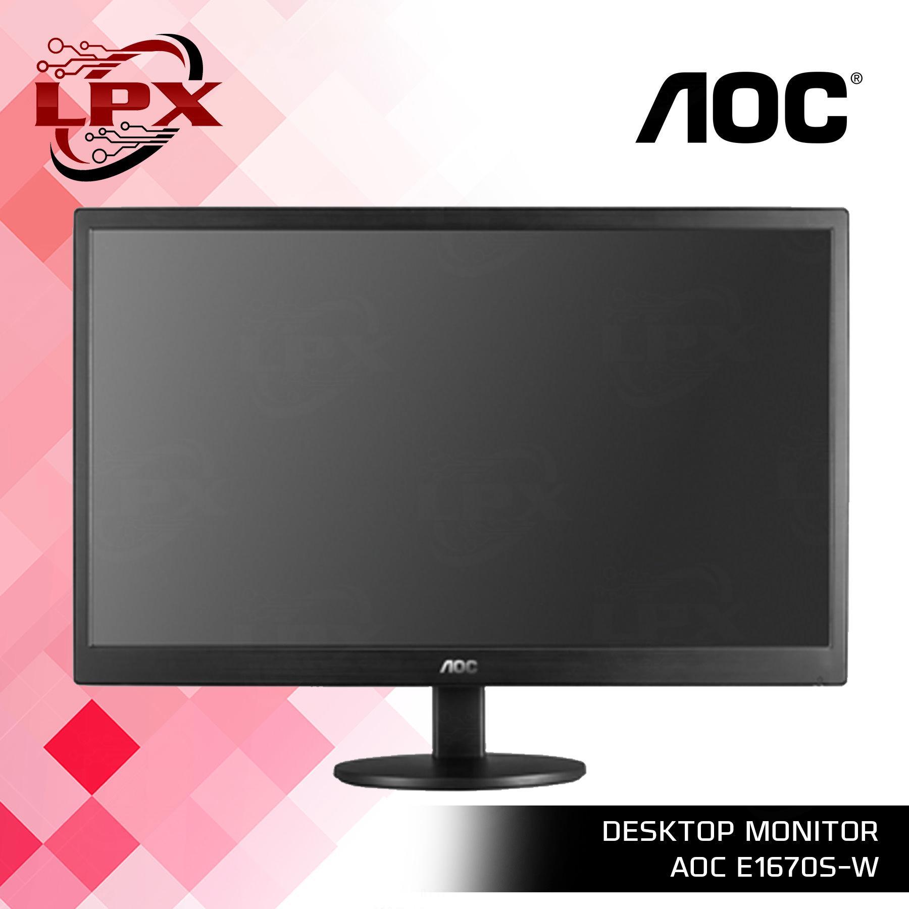 LED Monitor AoC E1670sw 15 6' Desktop Monitor