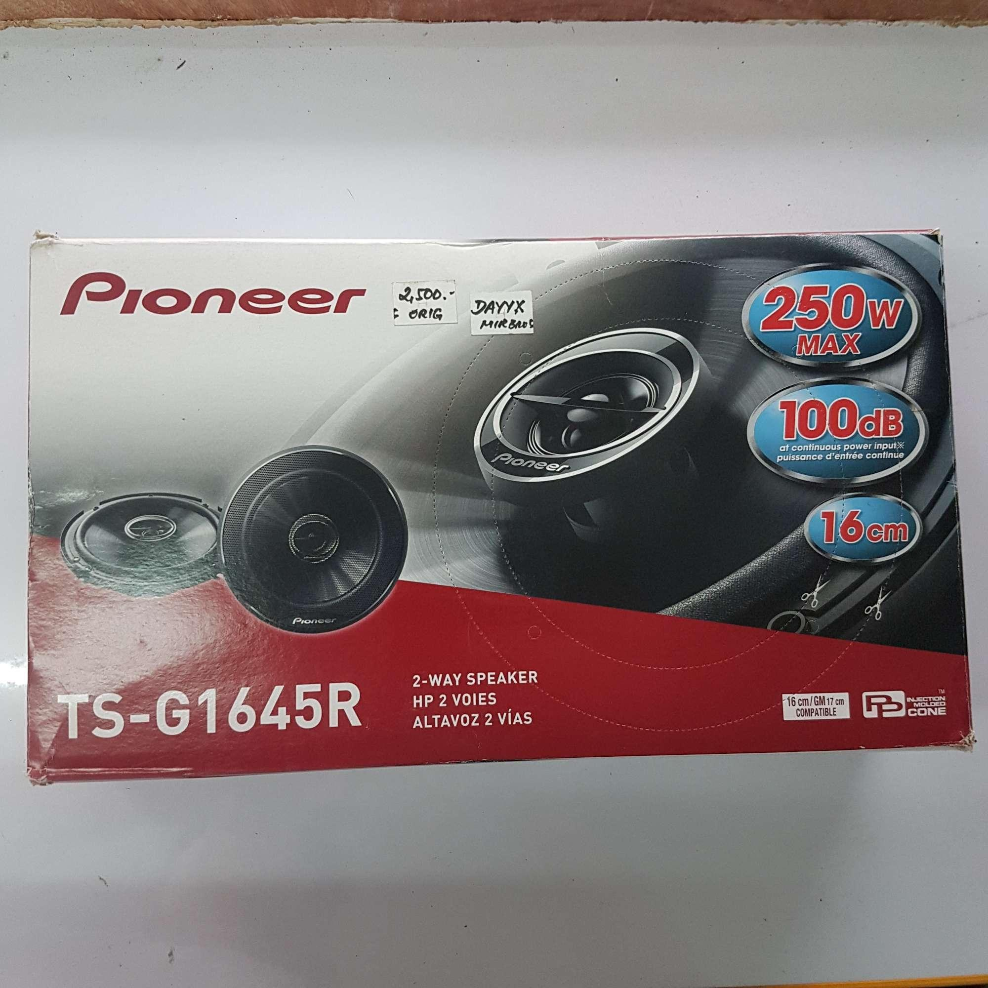Pioneer Philippines Car Speakers For Sale Prices Speaker Ts F1634r Coaxial 2way 6 2 Way Pair G1645r