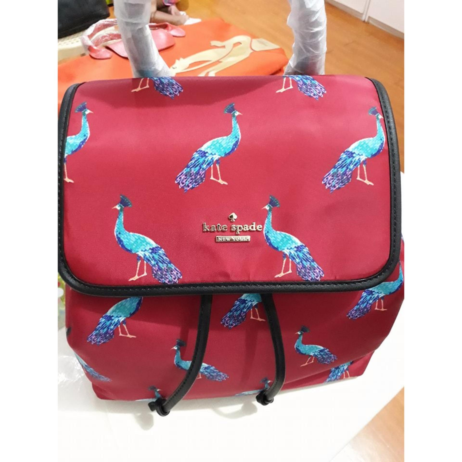 Kate Spade Backpack In Peacock Design Philippines Lc006 Longchamp Le Pliage Large Long Handle Llh