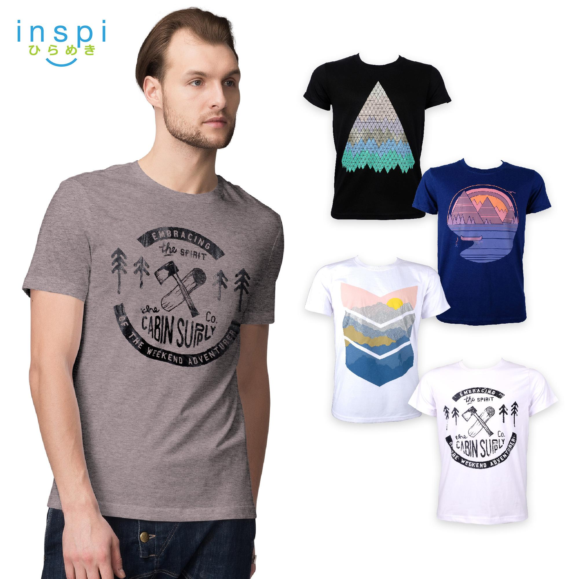 77ed7277b4e INSPI Tees Outdoors Collection tshirt printed graphic tee Mens t shirt  shirts for men tshirts sale