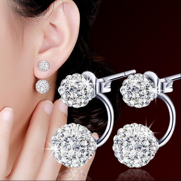 850b9bdf0 bf Korean-style Cool Elegant 925 Sterling Silver Earrings Jewellery Women Fashion  Jewellery Earrings#