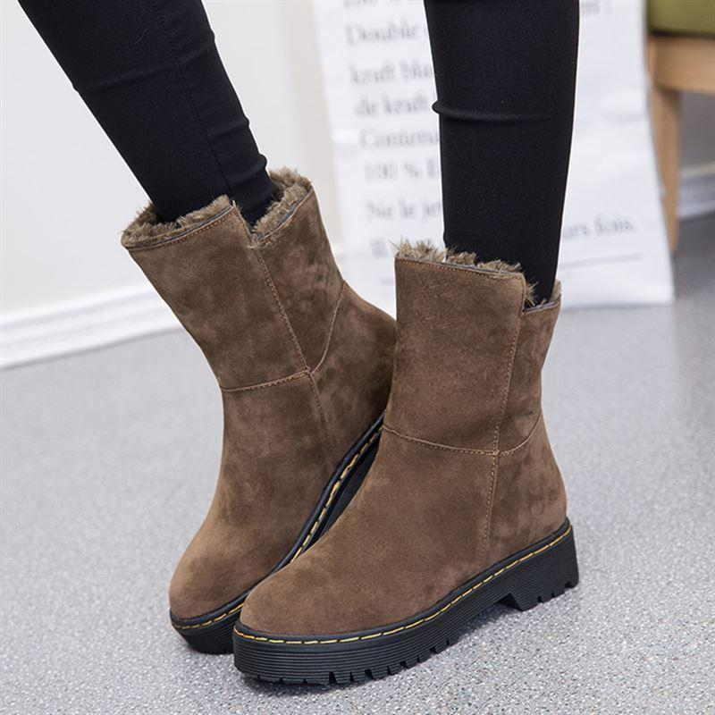 f9fd71ff6464 Winter Cold Thick Bottomed Thick plus Velvet Warm Cool Fashion Snow Boots  Dual Purpose Short Boots
