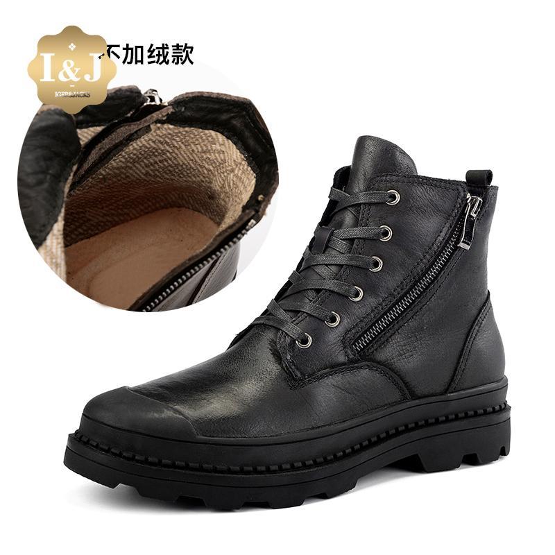 Men s Boot Hight-top Fashion Martin Boots plus Velvet Short Boots Warm  Combat Boots England e4f8c9d9ef