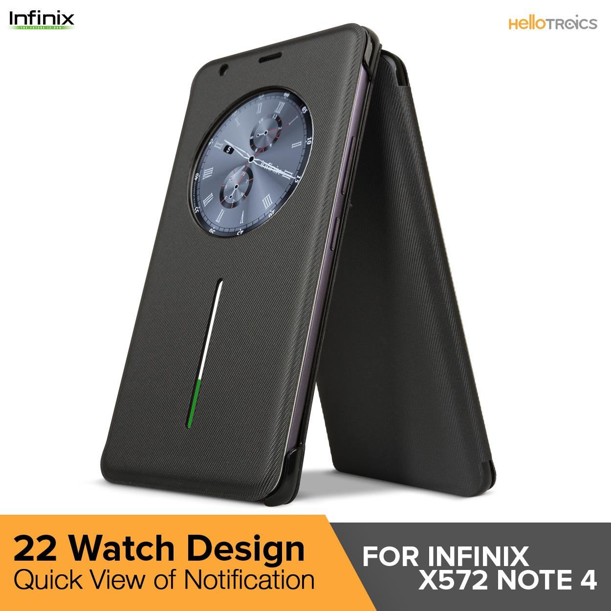 Infinix X572 Note 4 Smart Cover Flip Case (Black)